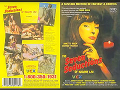 The Seven Seductions. Christopher Hamilton is a wealthy and arrogant British playboy seeking the ultimate sexual experience. His quest eventually leads him to the mysterious sanctuary of Madame Lau, an exotic oriental temptress endowed with mystical powers. She promises Christopher that he will find the gratification he seeks – but that the key to this treasured reward lies only within himself. Transforming herself into a host of beautiful women, Madame Lau caters to Christopher's every whim, and soon he is ushered into an erotic world where his fantasies come to life in graphic detail.