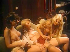 Hottest lesbian vintage video with Serena and Lisa K. Loring. Young, beautiful, and innocent Desiree enters the work chock up to find great difficulty in keeping men disinterested in her charms. She starts out as a promising reporter when she meets Mr. Ryan, a Presidential hopeful. He gives her the scoop of her life which ends up in an unusual pool sequence! Desiree then tries another job as a door to door saleswoman with some very unusual results when she discovers her first client, a very luscious an hot redhead. She sells all her merchandise and ends up in a menage a trois when the husband enters. Trying to keep away from sexual encounters and to find straight work, she finds herself a job aboard a luxury yacht only to discover herself involved with two famous porno stars, Johnny Holmes and Serena. Seeing that no matter what she does ends in sexual encounters, she goes after a career in porno films and becomes an international sensation. And lives happily ever after!!!