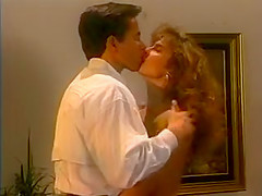Ashlyn Gere and Peter North fuck. Classic stars Ashlyn Gere and Peter North make out in the living room before moving to the brown leather sofa for some hardcore fucking.