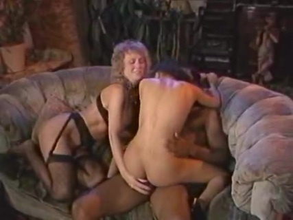 Wild Stuff. This wall-to-wall 1987 collection of mostly interracial couplings stars a youthful Jeanna Fine as the owner of an unhinged sex club called Wild Stuff. Jeanna sports a mane of short, platinum blonde hair that gives away her punky nature, and throws herself into the proceedings with the ardor of a newcomer who just can't get enough. We begin with a threesome between tightbodied Nina Hartley, Alexis White and Don Fernando. All three get their groove on, and then we move on to a searing group grope between F.M. Bradley, Carol Titian and another tasty young tart. F.M. shows off his tireless nature when he comes right back for more in the next clip, this time joining a luscious young strumpet for some one-on-one fun. A big group session ends the feature, with Alexis and Jeanna finding themselves in the midst of a wild pile-up. Those who like interracial action and lean, 80s style vixens will surely find lots to lust after throughout this one. It's a real throwback, an old school treat that still holds up after all these years.
