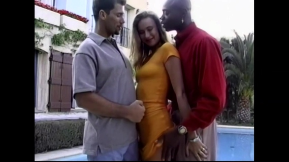Euro Beauty interracial threesome. Watch Euro Beauty interracial threesome online vintage porn