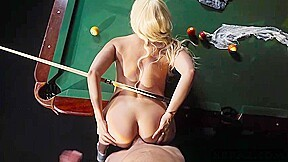 Waitress loses a game of pool and gives up her ass. Luna Star