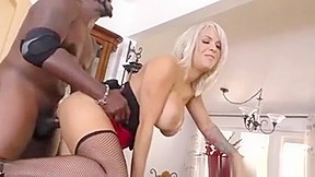 Busty Cougar Alyssa Lynn Hungry For Black Cock. Watch free Straight, Big Tits, Hardcore, Interracial, MILF, Stockings, Blonde porn video on Txxx.com.  Video duration: :