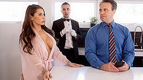 Madison Ivy & Keiran Lee in The Butler Did It - BRAZZERS. Madison is getting prepared for her husbands gala event when she discovers her pearl necklace has gone missing. In fact a lot of things have been going missing lately. She mentions the theft to her husband and he decides that they will check the helps bags before they leave each night. The butler overhears them and once he's alone, reveals that he is the thief. Madison takes a shower and while she is busy, the butler enters her room to replace the stolen necklace - and is caught in the process! The butler thinks he's in trouble and tries to explain himself but Madison thanks him instead, thinking that he found the necklace. As a good Samaritan, the butler deserves some kind of reward for his heroic actions. How about a sloppy wet blowjob and fucking Madison's tight juicy pussy?