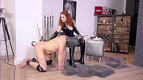 Owner and her Puppy Slave. Watch free Straight, Fetish, Mature, Red Head, British porn video on Txxx.com.  Video duration: :