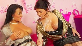STRAPON LESBIAN HD !!. 2 naughty girls playing with eachother !! Carmen Croft -