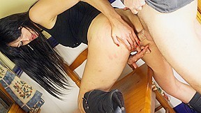 Ana Ribera Fucked With Big Dildo And With Cock - Upox. Brunette Ana Ribera is so delighted to be welcomed with some huge dildos. After having her tits fondles, this babe is fucked with the red toy from behind, under the white panties. Then, she kneels and sucks the man's cock so fast, almost swallowing it all. This bitch is fucked from behind so deep! On the floor, her asshole is nailed too, so hard. In the reverse cowgirl position, she rubs her clit while her ass is pumped harder. Ana is fucked with the boner and the dildo same time in her ass and cunt, and she gets cum in the mouth.