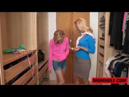 Munching on some Dakotas Skye teen pussy.Dakota was hanging out at her friend Cherie's house trying out different clothes. She was going to try on some panties, so she took hers off, then..
