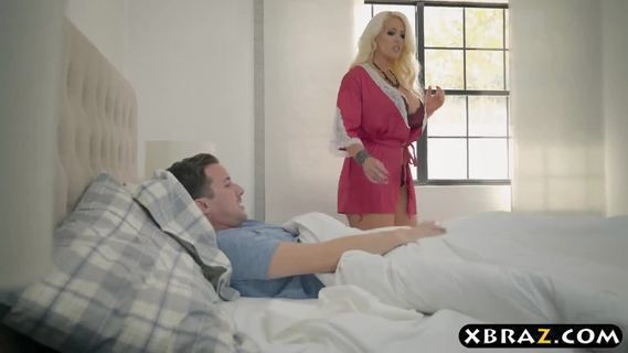 BBW stepmom is horny and wants a young cock in her big ass.BBW stepmom Alura Jenson is horny as fuck and wants the young cock of her stepson deep in her big ass