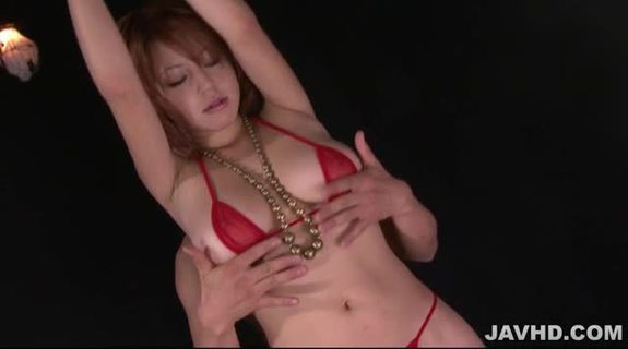 JavHD - SARA.Sara in bondage has her big tits and wet pussy toyed with.
