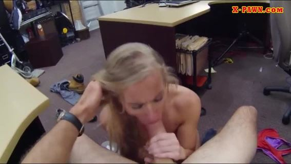 Blonde tramp sells her car and pounded.Tight amateur blonde tramp sells herself for a fuck on tape by horny pawnkeeper at the pawnshop