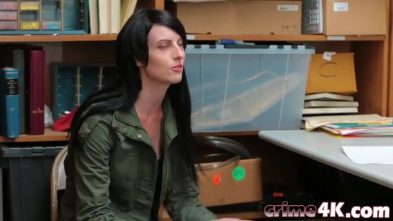 Shoplifter Babe Alex Harper Fucking Desk Big Dick.Sexy babe Alex Harper is going to learn why shoplifting is wrong. She gets her tight cunt filled with a long dong on the desk for punishment.