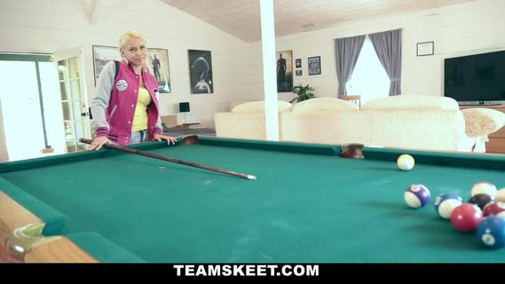 ExxxtraSmall - Wanna Play?.Pretty little naughty blonde girl Marsha May gets fucked in different positions by her step dad on top of a billiard table.