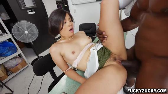 Enormous dick fuck an asian pussy and ass.This sexy tailor Milcah Halili is horny and suddenly grabs that enormous black dick and suck it deeply inside her mouth.She fucked hard in her tight pussy and asshole in several positions.