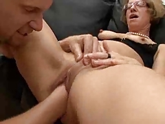 Hot mature wearing glasses is getting penetrated hard. Check out Hot mature wearing glasses is getting penetrated hard on FRPRN.com