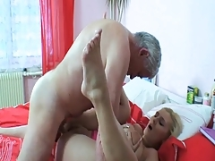 Older fellow is pushing his penis into wild babe's pussy. Check out Older fellow is pushing his penis into wild babe's pussy on FRPRN.com
