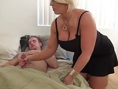 Short-haired blondie Alura Jenson seducing a younger guy. Check out Short-haired blondie Alura Jenson seducing a younger guy on FRPRN.com