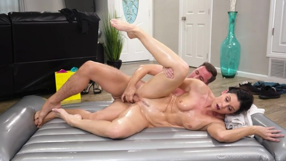 Aroused guy enjoys massage and sex with auntie India Summer. Check out Aroused guy enjoys massage and sex with auntie India Summer on FRPRN.com