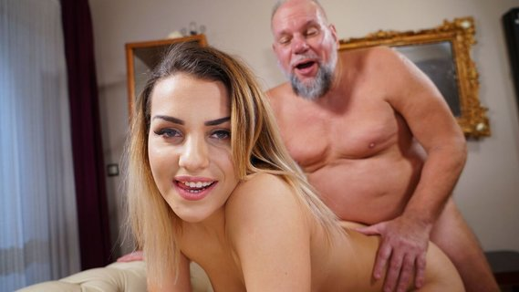 Awesome young gal Bianca Booty makes old dude crazy with lust. Check out Awesome young gal Bianca Booty makes old dude crazy with lust on FRPRN.com