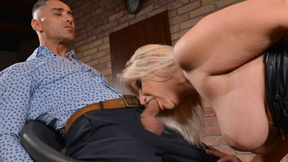 Dominating blonde MILF Anna Valentina disciplines male client. Check out Dominating blonde MILF Anna Valentina disciplines male client on FRPRN.com
