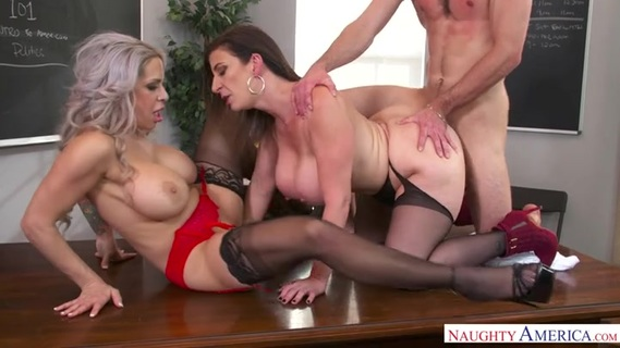 Teachers Alyssa Lynn and Sara Jay relieve stress by threesome. Check out Teachers Alyssa Lynn and Sara Jay relieve stress by threesome on FRPRN.com