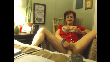 Granny talks dirty and rides a dildo till she has an orgasm. Check out Granny talks dirty and rides a dildo till she has an orgasm on FRPRN.com