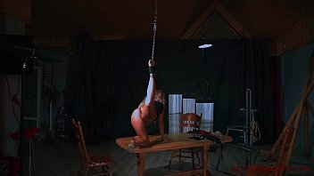 Blonde babe tied to the ceiling is fucked by her master. Check out Blonde babe tied to the ceiling is fucked by her master on FRPRN.com
