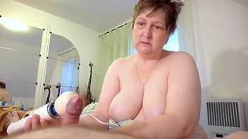 Fat granny made her husband cum by using a vibrator on him. Check out Fat granny made her husband cum by using a vibrator on him on FRPRN.com