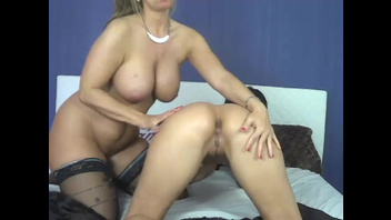 Lesbian video of the busty MILF in stockings and young girl. Check out Lesbian video of the busty MILF in stockings and young girl on FRPRN.com