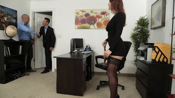 Man hired sexy April Dawn just for sex in the office. Check out Man hired sexy April Dawn just for sex in the office on FRPRN.com