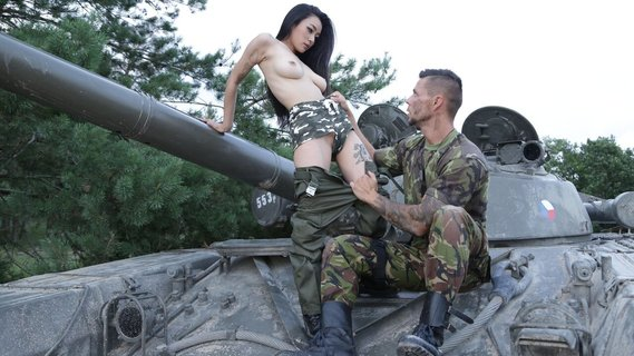 Hot sex makes the soldier Rae Lil Black even stronger. Check out Hot sex makes the soldier Rae Lil Black even stronger on FRPRN.com