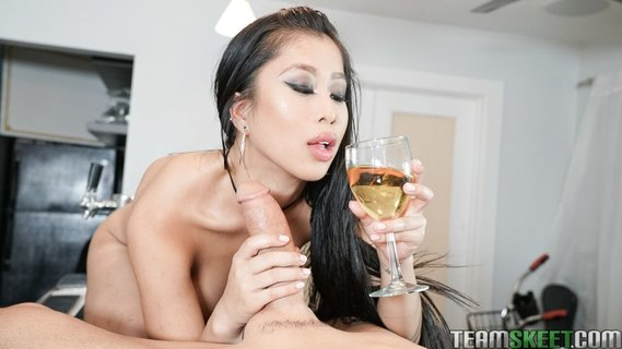 Asian belle Jade Kush gives her lover sloppy blowjob. Check out Asian belle Jade Kush gives her lover sloppy blowjob on FRPRN.com
