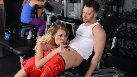 Tiffany Watson fucks in front of nerdy girl in the gym. Check out Tiffany Watson fucks in front of nerdy girl in the gym on FRPRN.com