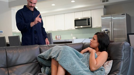Playful young kitten Diamond Banks fucks the repairman. Check out Playful young kitten Diamond Banks fucks the repairman on FRPRN.com