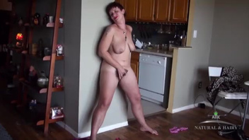 Naughty hairy MILF teases herself till she gets wet. Check out Naughty hairy MILF teases herself till she gets wet on FRPRN.com