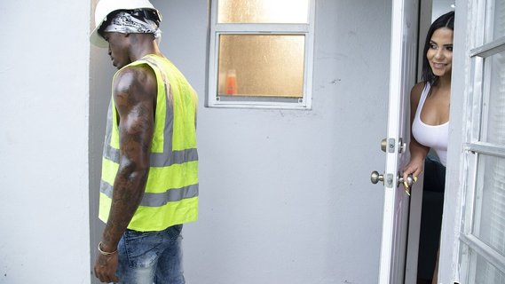 Awesome Rose Monroe seduces Ebony construction worker. Check out Awesome Rose Monroe seduces Ebony construction worker on FRPRN.com