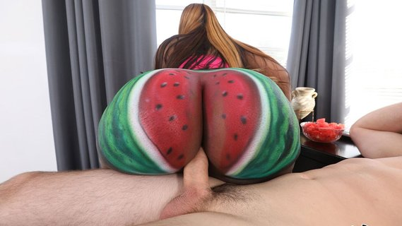 Black Victoria Cakes has ass painted like watermelon. Check out Black Victoria Cakes has ass painted like watermelon on FRPRN.com