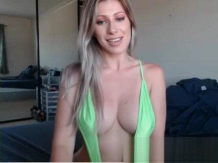 Blonde milf play with boobs and ass at webcam. Katerine Moss