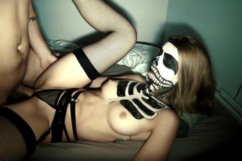 Girl Fucked By Skeleton