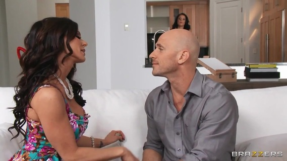 Brunettes Peta Jensen and Kendra Lust are nailed together. Having one hot wife is pretty cool. But having two is even cooler. Lucky hunk Johnny Sins is shared by two beautiful, big-titty brunettes: Kendra Lust and Peta Jensen. The ladies take turns with their man, fucking him on carefully set alternating nights. The rule seems simple enough - but what happens when Peta Jensen is so horny that she simply can't help but take Johnny's cock in her mouth, even when it's not her sex day? Even when he's in the middle of fucking Kendra? Here's a hint: What happens is a competitive threesome, with these two hotties desperate to out-fuck the other wife. Good thing Johnny is there to remind both of his horny housewives that he has enough penis to keep them both happy, and let them work out their sexual frustration in a hot and heavy threesome!