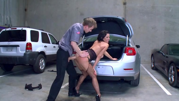 Veronica Avluv fucks with a stranger on the car park in the doggy style pose. Veronica Avluv fucks with a stranger on the car park in the doggy style pose