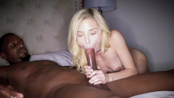 Blonde teen Piper Perri checks out black guy's huge penis. Blonde teen Piper Perri checks out black guy's huge penis