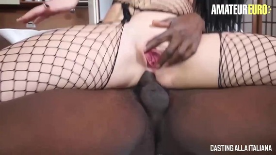 Big ass brunette in fishnet pantyhose is having wild anal sex with a handsome black guy. Big ass brunette in fishnet pantyhose is having wild anal sex with a handsome black guy
