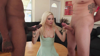 Stimulating interracial threesome sex with Piper Perri. Stimulating interracial threesome sex with Piper Perri