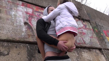 Young girl Gina Gerson aka Doris Ivy gets nailed outdoor. Young girl Gina Gerson aka Doris Ivy gets nailed outdoor