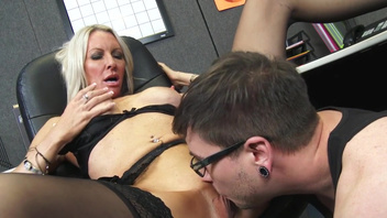Explicit office sex with gorgeous blonde Emma Starr. Explicit office sex with gorgeous blonde Emma Starr