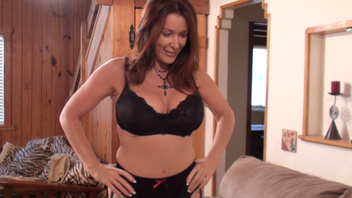 Busty mature Rachel Steele thrills dude with wet blowjob. Busty mature Rachel Steele thrills dude with wet blowjob