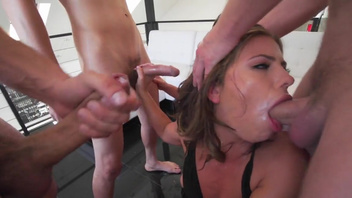 Gangbang pleasures for insolent slut with nice ass, Adriana Chechik. Gangbang pleasures for insolent slut with nice ass, Adriana Chechik