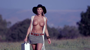Wild cowgirl August Ames gets nailed with a big dagger. Wild cowgirl August Ames gets nailed with a big dagger
