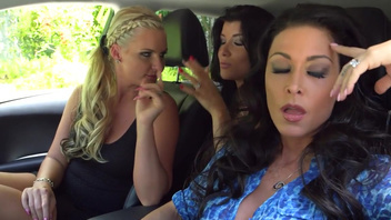 Foursome fuck scene with Phoenix Marie and just one guy. Gorgeous porn actresses - Jessica Jaymes, Romy Rain and Phoenix Marie, passionately pound with a forehead, whose thick cock will thoroughly wash their insatiable vaginas with it